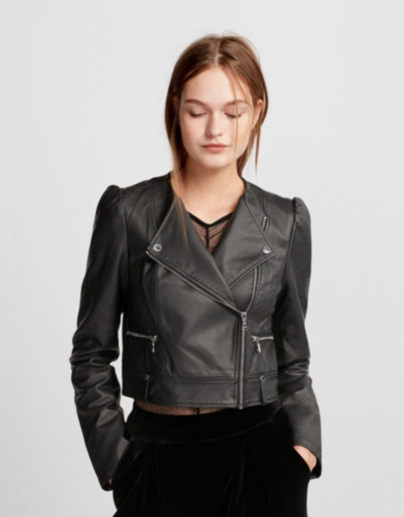 Express Puff Sleeve (Minus the) Leather Jacket