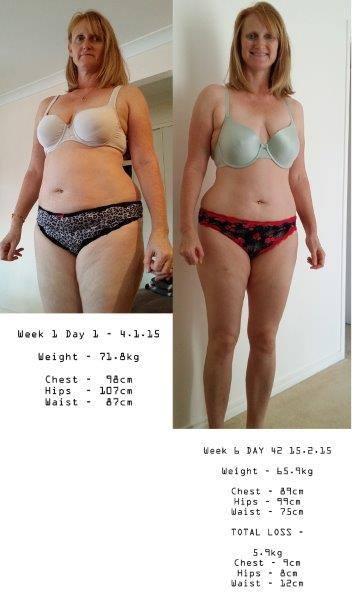 Linda Morrison 6 week challenge