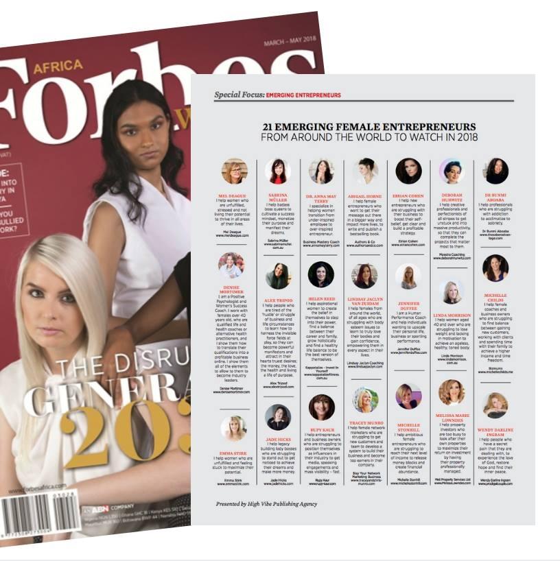 Forbes Linda Morrison - TOP female entrepreneur 2018