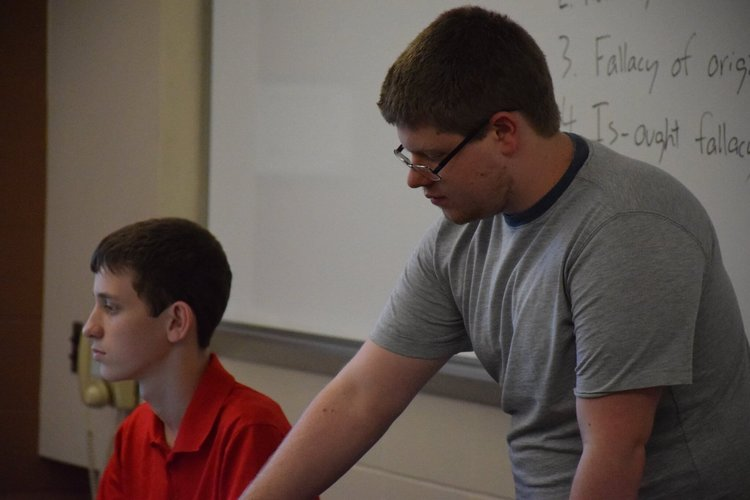 Jacob Ronkin  (2015 Yale Finalist)  and JP Stuckert ( Coach at Walt Whitman HS)  teach logical fallacies.