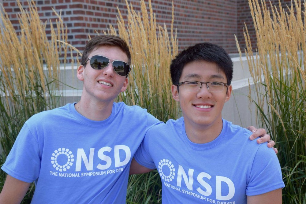 Paul Erlanger (2016 TOC Octafinalist) and Amos Jeng (2015 TOC Double-Octafinalist) both were students at NSD before returning to teach.