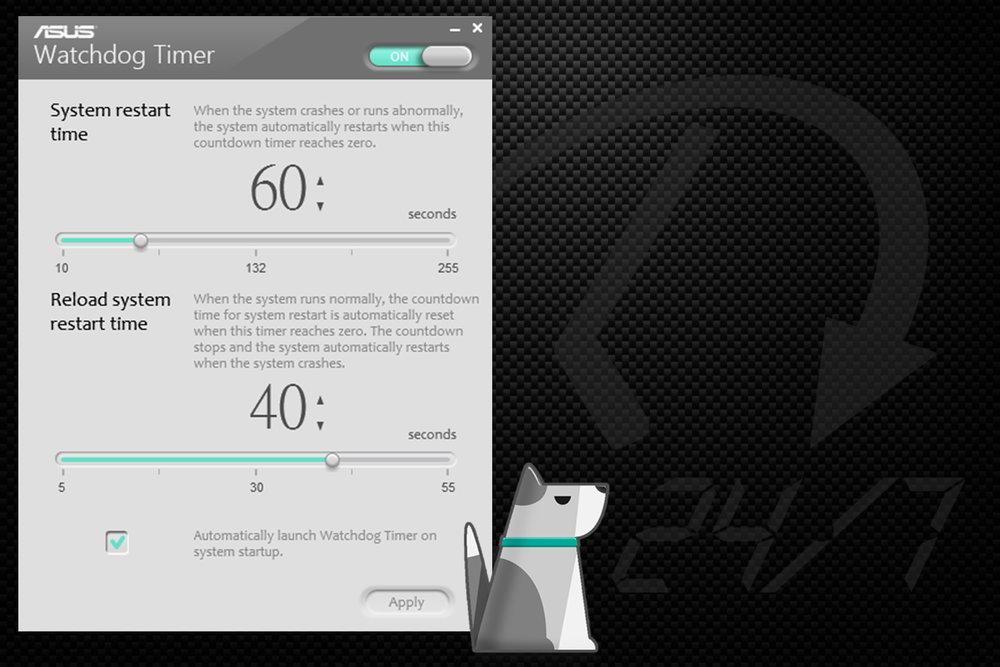 ASUS Watchdog Timer UI -