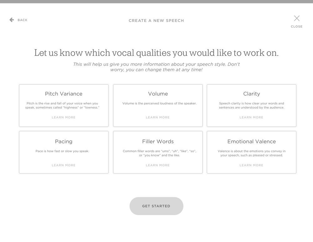 Vocal Quality Goal Setting