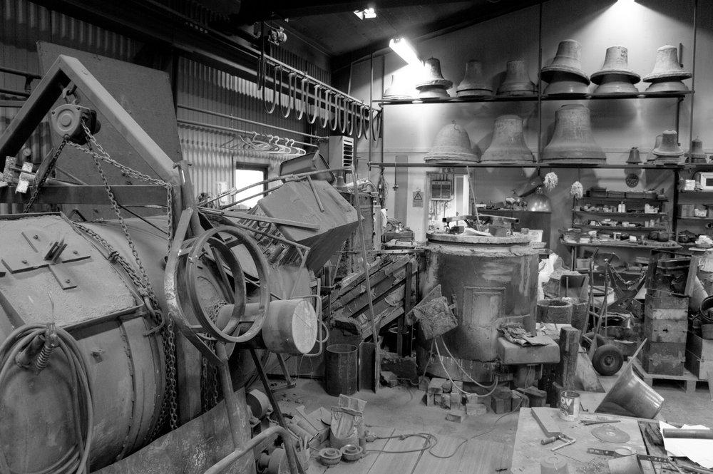 Inside M&E Ohlssons Klockgjuteri