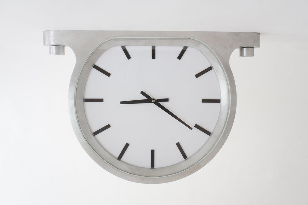 On display 'The Ceiling Clock' Produced by M&E Ohlssons Klockgjuteri and designed by Glen Baghurst