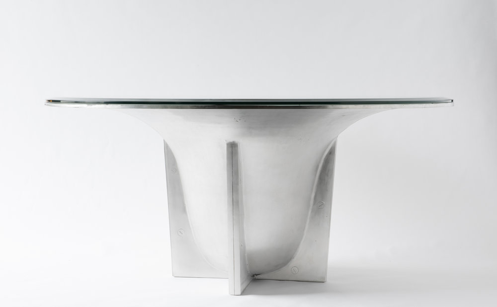 'Orotundo'   Aluminium, Glass   Dining Table, 2017     More info
