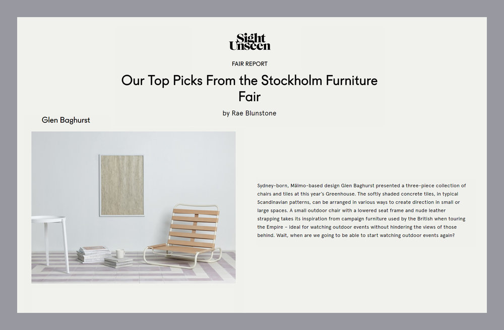 Sight Unseen Top Picks From Stockholm Furniture Fair 2015