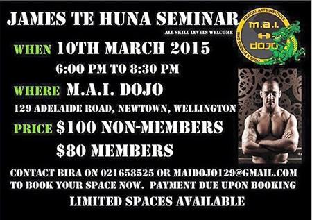 James Te Huna NZ Seminar tour March 2015