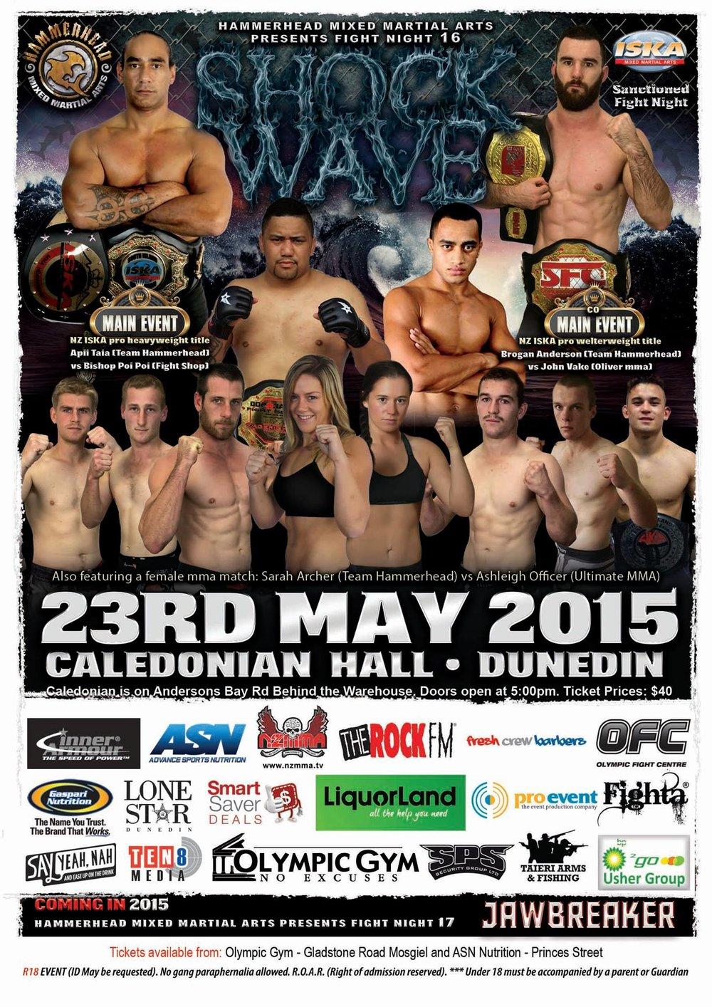 ShockWave Fight Night 16 - Dunedin