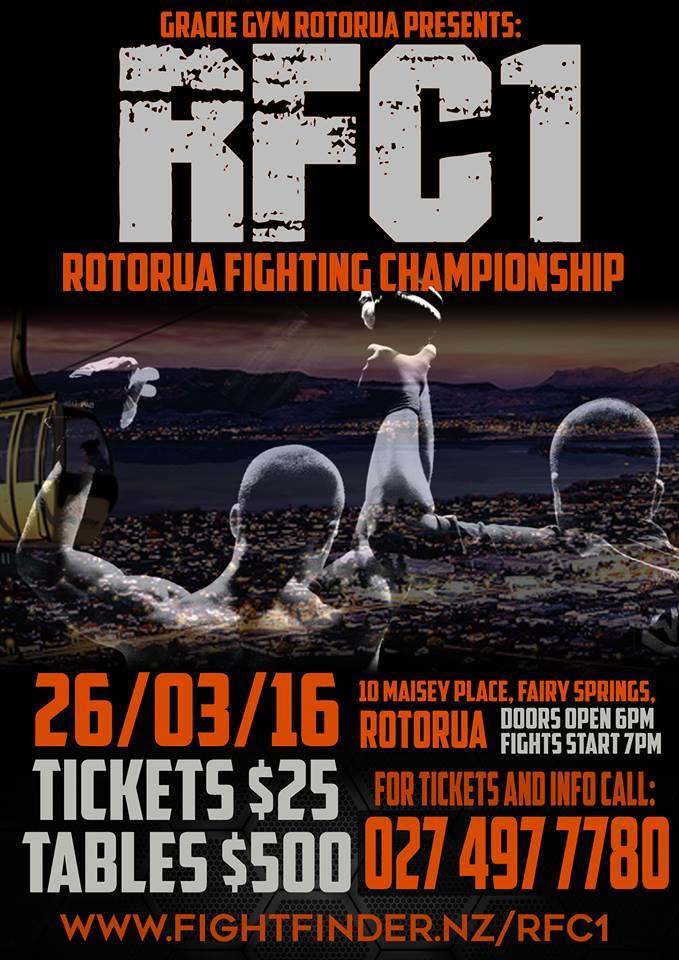 RFC1 Rotorua Fighting Championship - March 2016