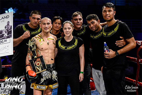 ISKA New Zealand Featherweight champion David 'Sanchai' Aung