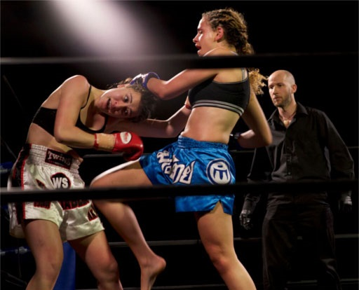 La-Chey Meredith vs Lucy Cuthbert - (Photos by Tim Hill of NITROMedia)