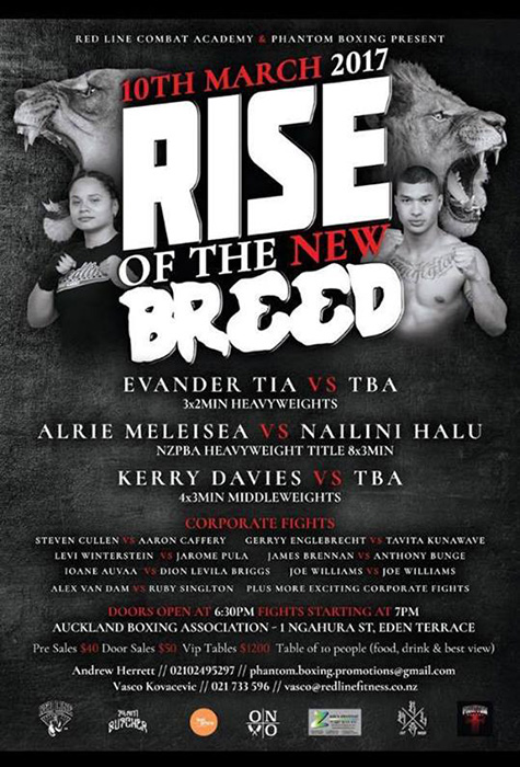 Boxing event in Auckland Rise of The New Breed