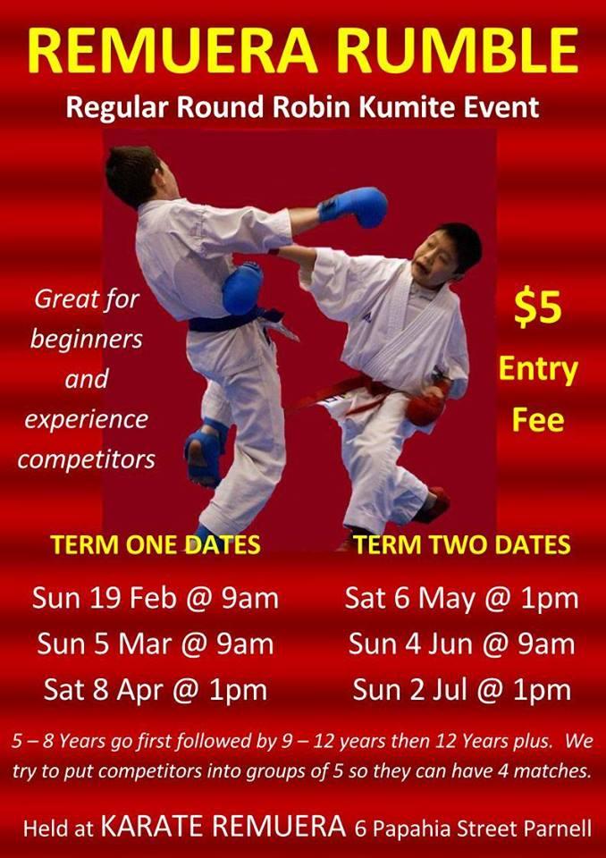 Remuera Karate event