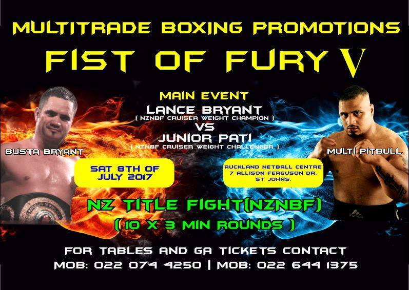 Fist of Fury V: Lance Bryant vs Junior Pati