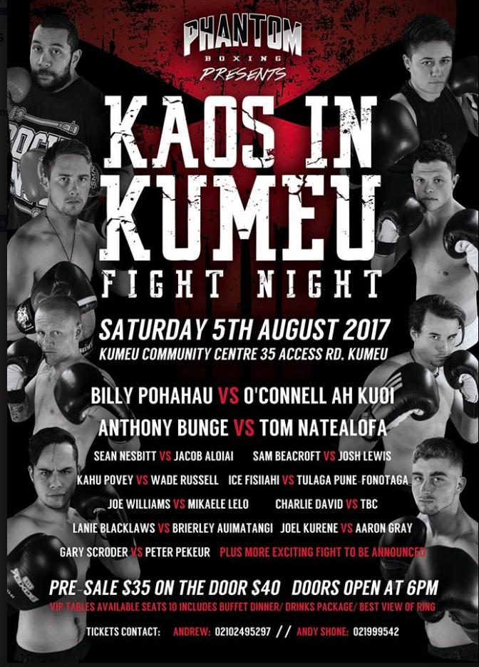 Kaos in Kumeu - Fight Night