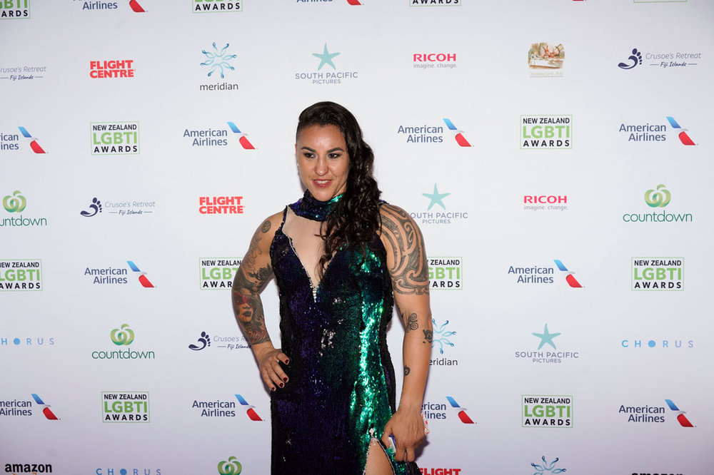 Geovana Peres, who is openly gay, at the LGBTI awards.