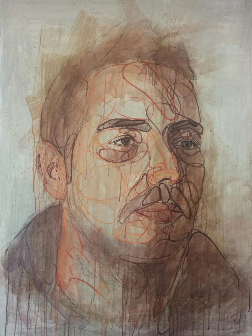 Alejandro, 2015 Acrílico sobre lienzo 142 x 114