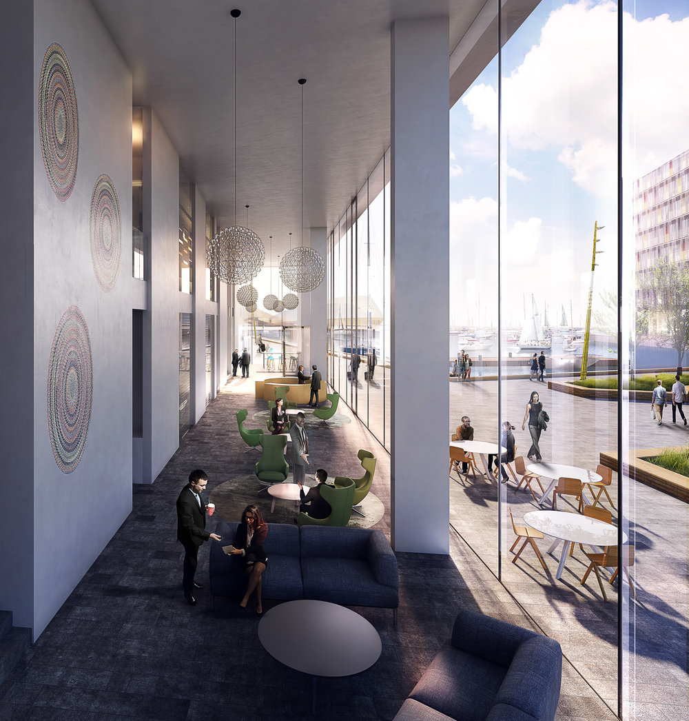 Scanport Lobby - Office masterplan in Copenhagen, Denmark