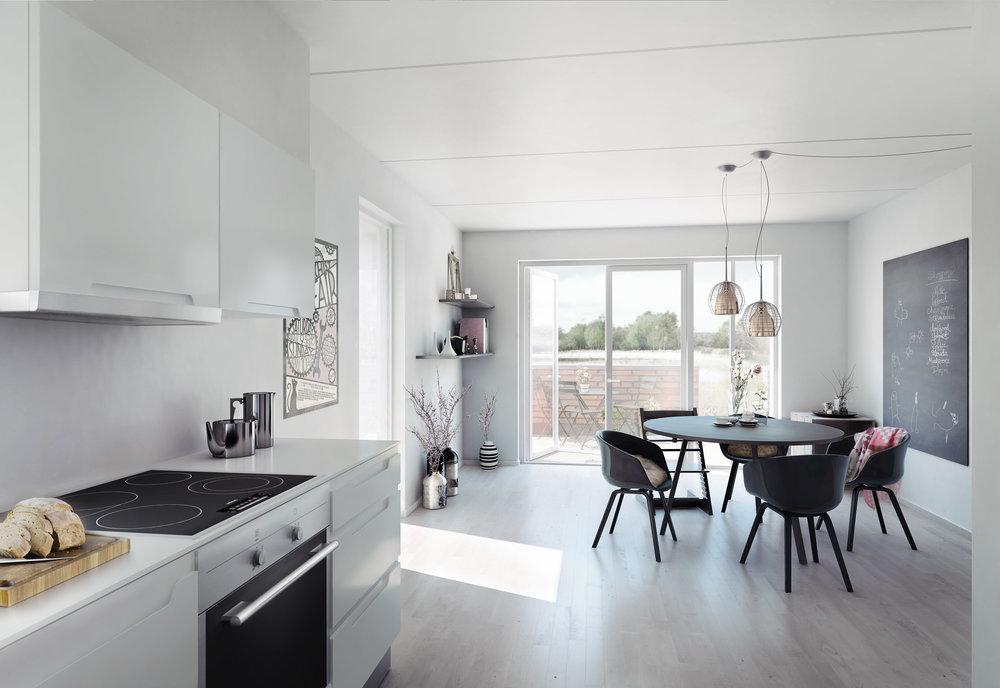 Fælledhusene - Dwelling project in Copenhagen, Denmark