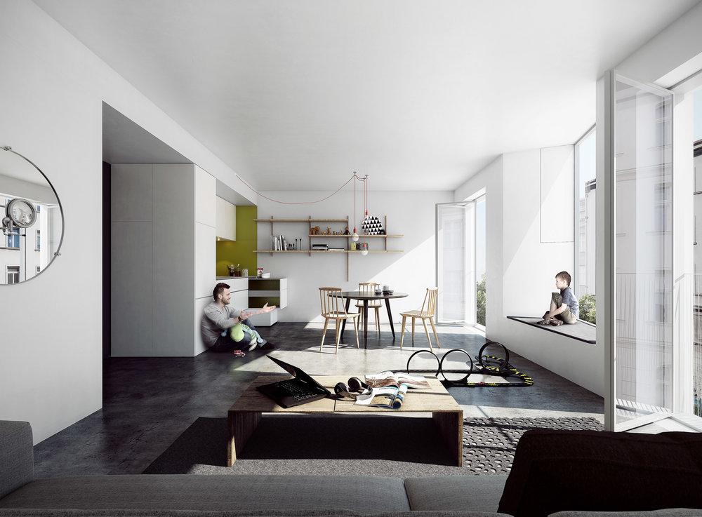 Småt og godt - Social housing concept.