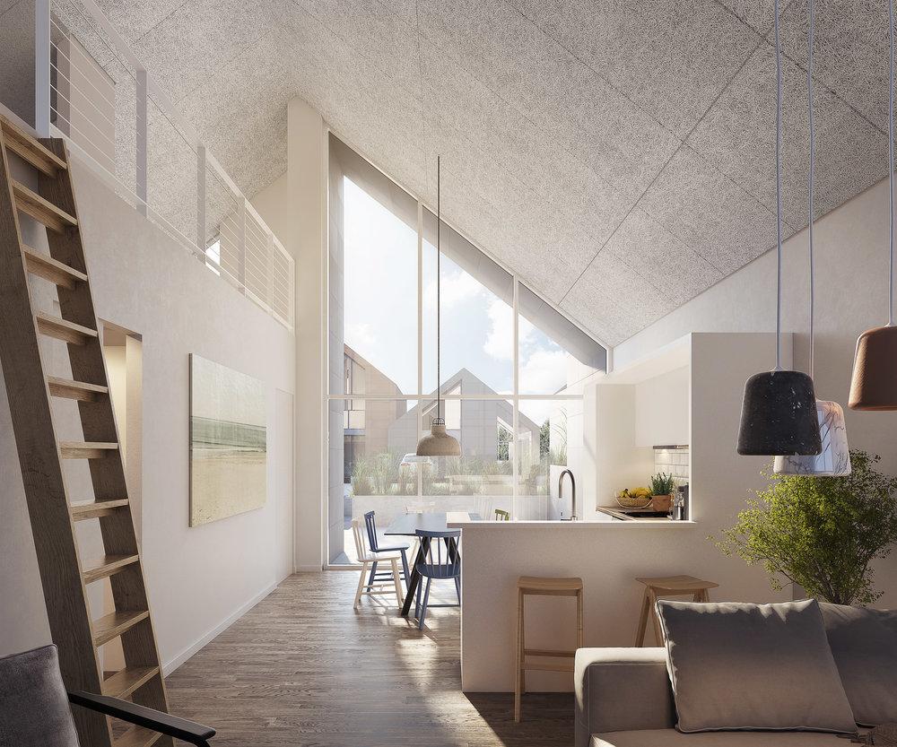 Langsand interior, sales images for project in Hvide Sande, DK.