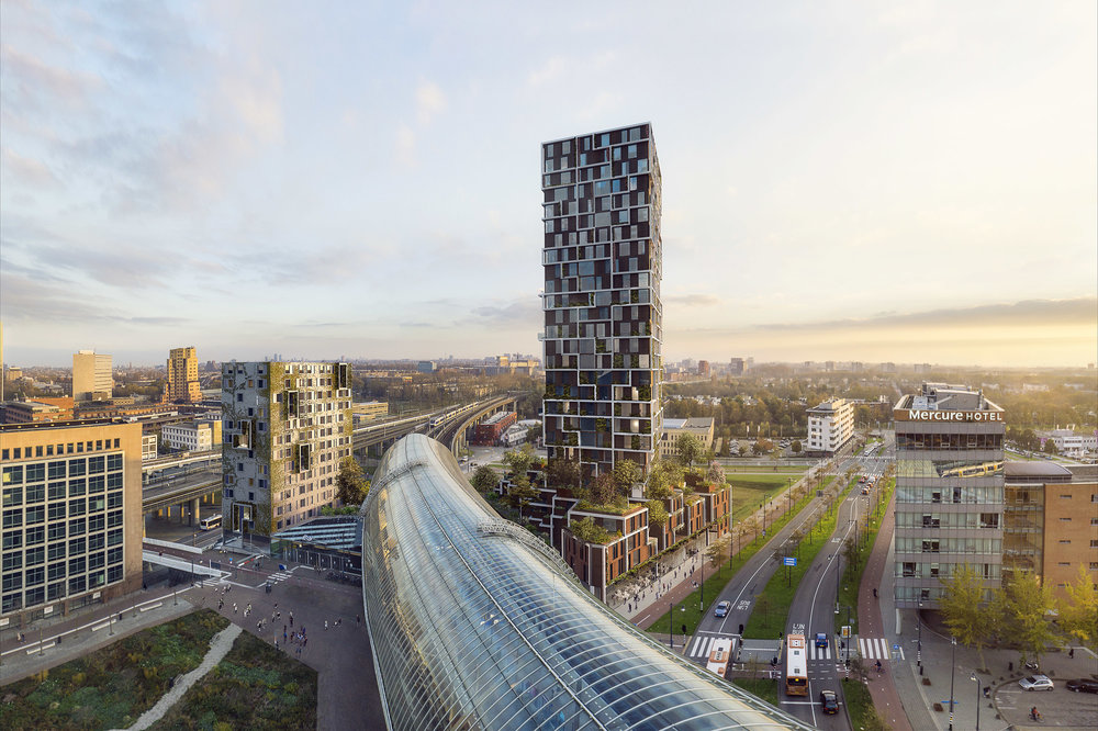 Kaval O. Competition entry of tower in Amsterdam, NL.