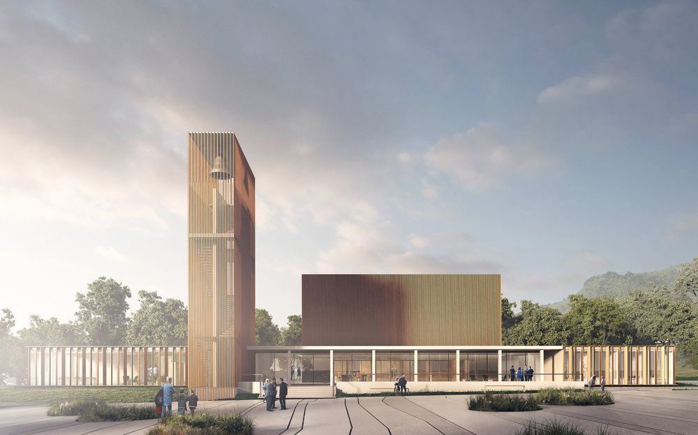 Tau Kirke, NO. Competition entry of new church.