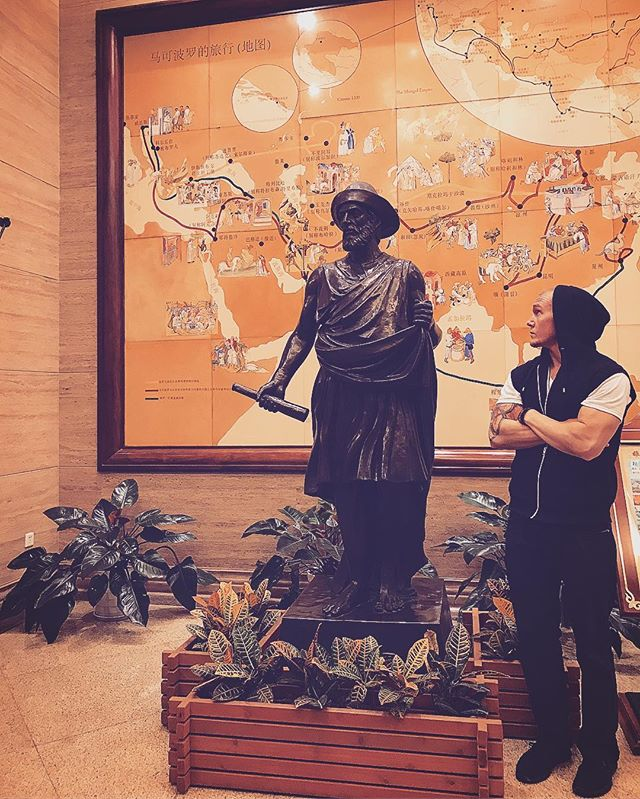"""Season 3 would never have been cancelled on @netflix if they casted you as me."" I know Marco, I know 😂🤷🏼‍♂️ #RealLifeMarcoPolo • • • • #MarcoPolo #Hotel #hangzhou #china #Merchant #venice #italy #statue #skylife #HipHop #music #rap #guyswithtattoos #guyswithblueeyes #guyswholift #travel #international #passport #instagood #quoteoftheday #photooftheday #photography #Wednesday #Netflix #Actor #entrepreneur #hustle #riseandgrind"