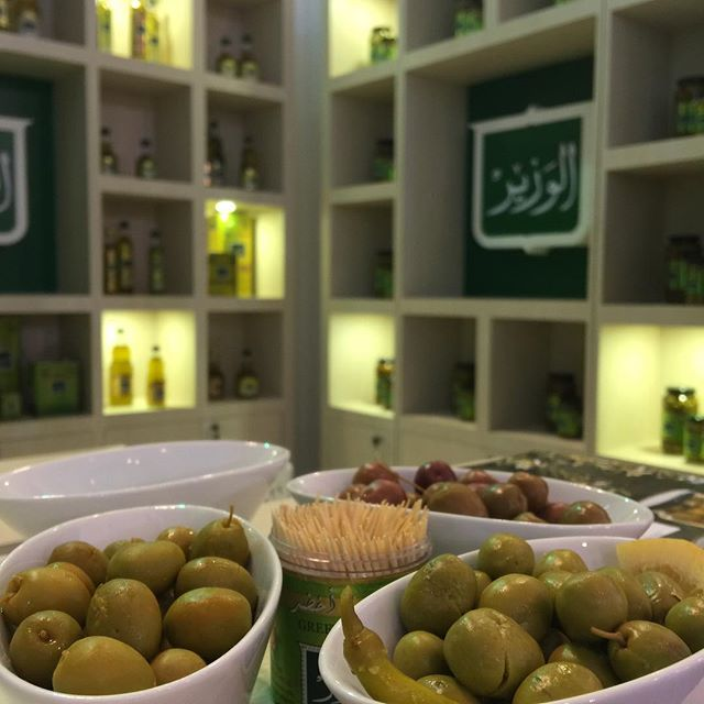 Our new seasoned olives! Presented for the first time at this years Gulfood exhibition