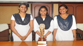 The team of Sreenedhi C.S. Swathi R and Jerry Mol Thomas secured First Runner Up in 7th Christ National Moot court Competition-2016