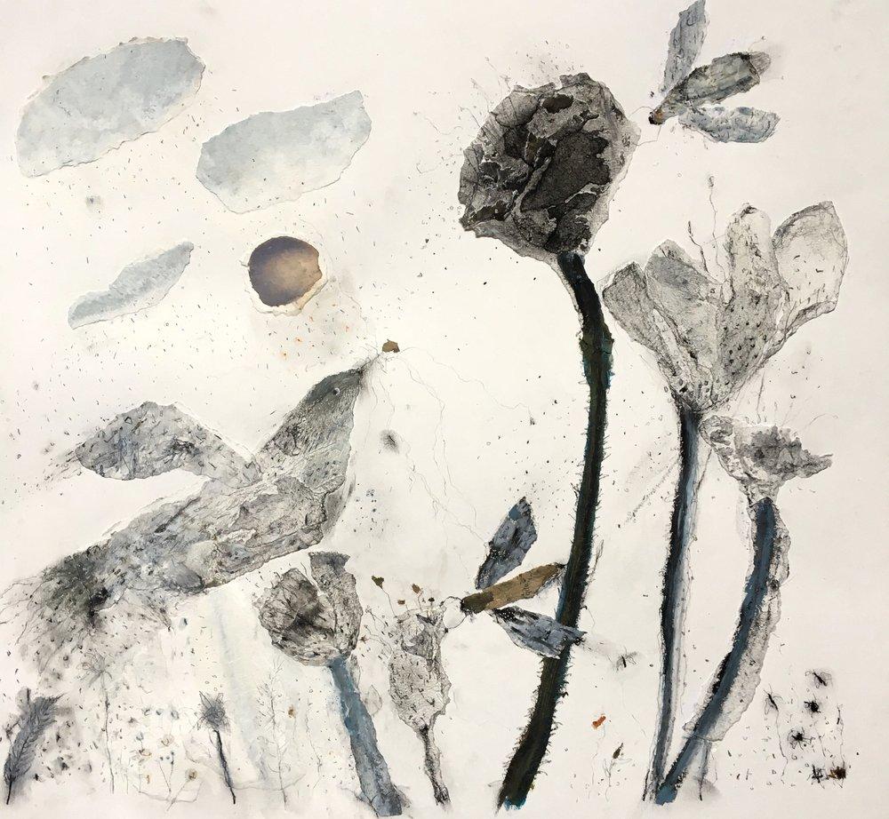 Merrily lingering in the flower-spill