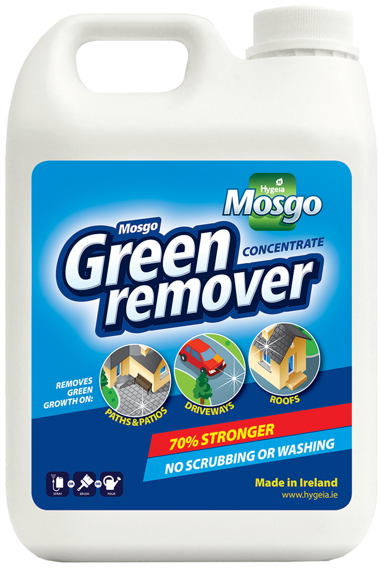 5L MOSGO GREEN REMOVER  Product Code :-  H1125  NOW   €15.95