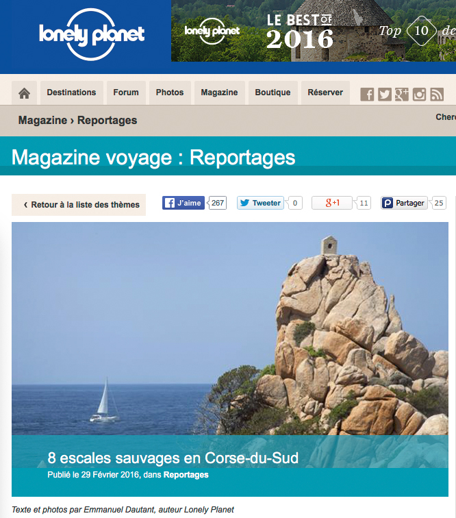 Article (texte, photo) lonelyplanet.fr