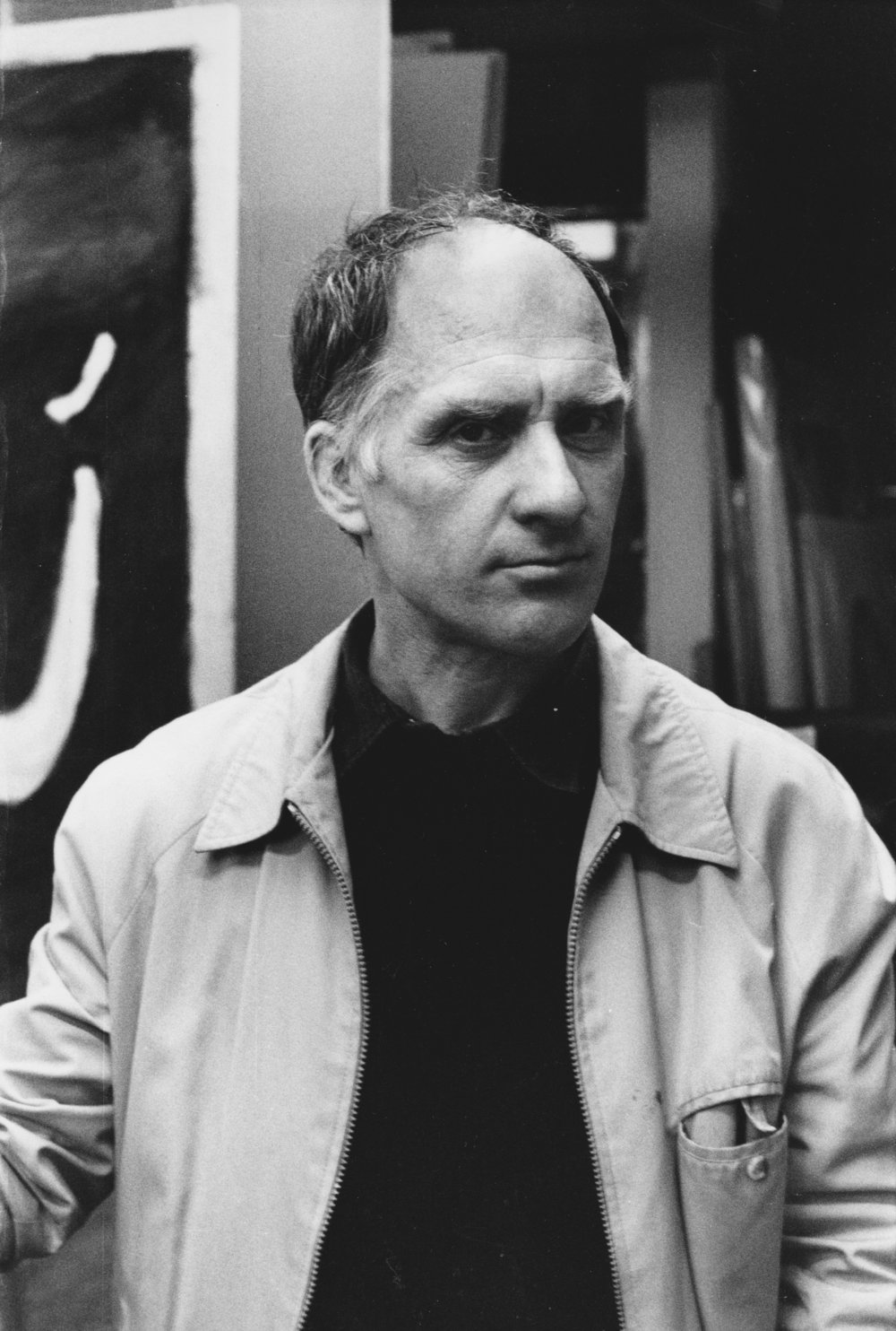 Ken Kiff RA (1935 – 2001) figurative artist in studio