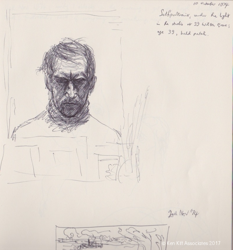 Ken Kiff - Self Portrait (Sketch)