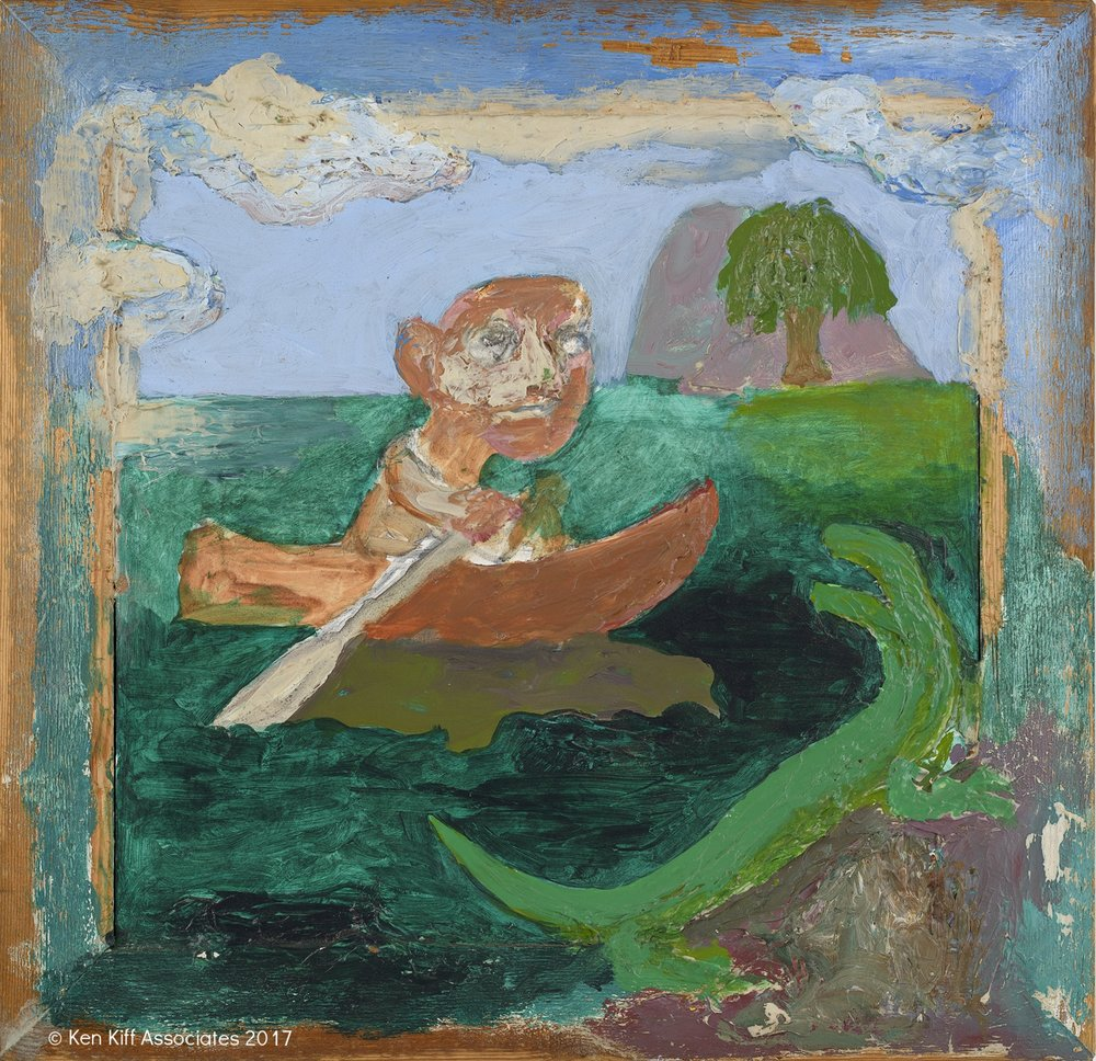 Ken Kiff - Man, Boat and Lizard