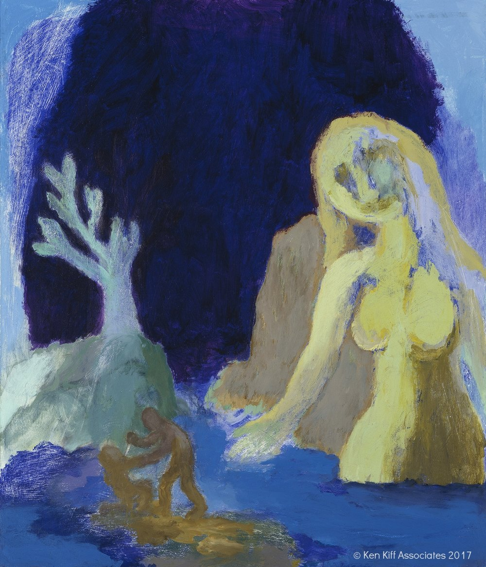 Ken Kiff - Woman Watching a Murder, 1996
