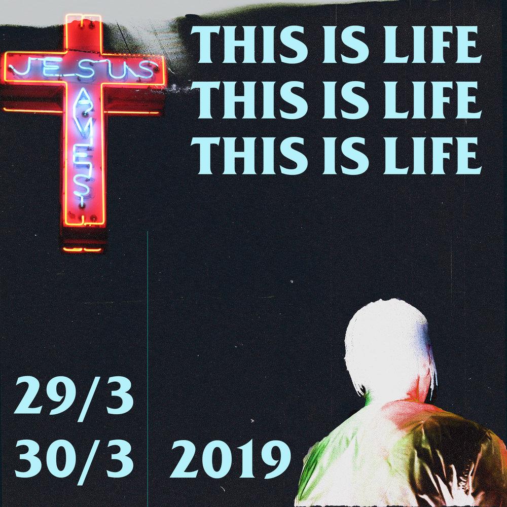 """Den 29-30 mars 2019 gör vi konferensen """"This is Life"""" tillsammans med alla våra campusar. I centrum av konferensen finns vår spännande resa som församling från start till där vi är i dag."""