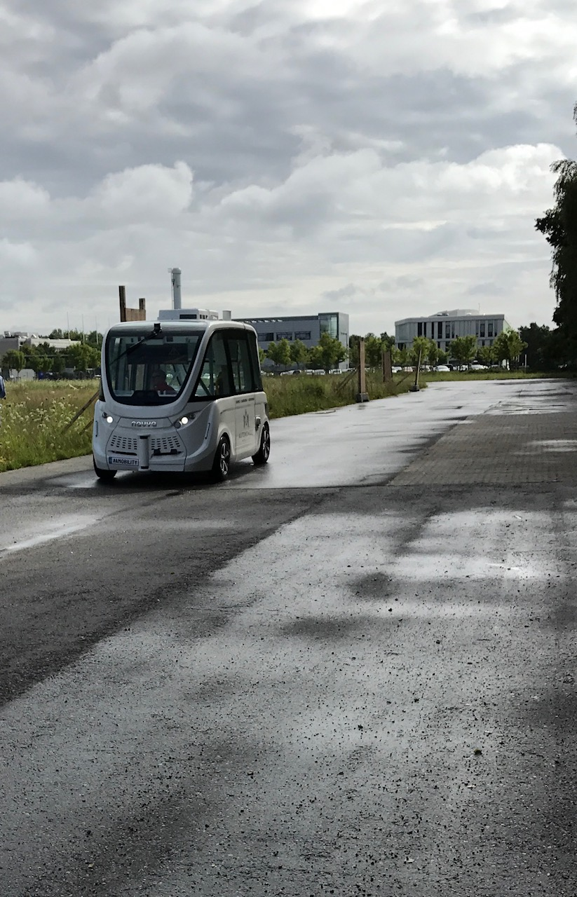 Self-driving Arma, test-driving at DTU.