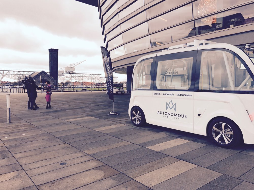 Self-driving Arma at SingularityU Denmark Summit at Operaen, October 23.-24.