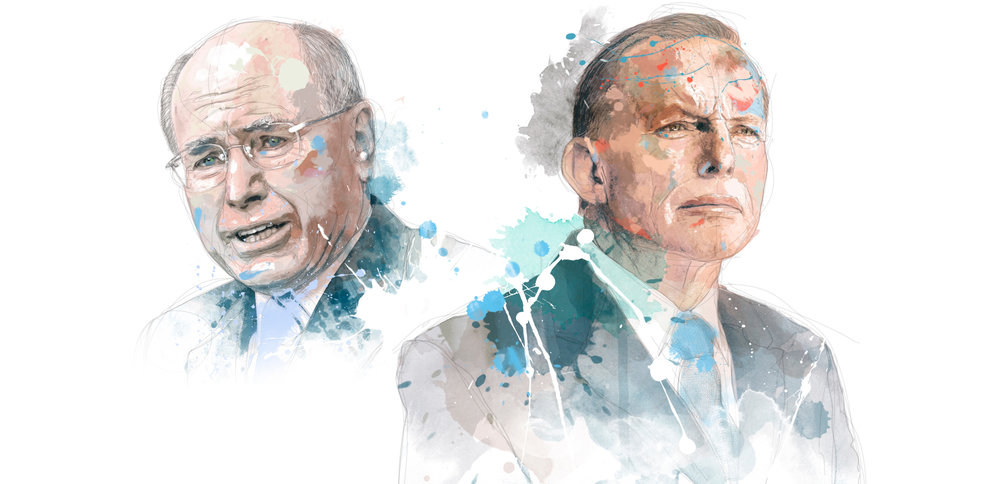 John Howard and Tony Abbott for the Weekend Australian