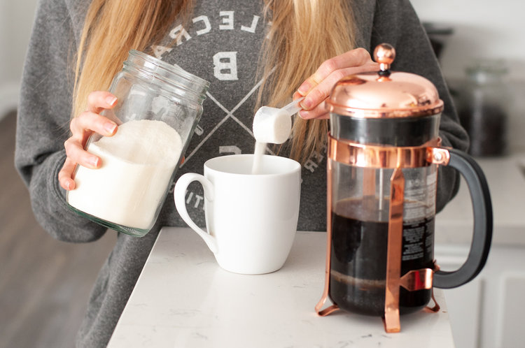 Morning coffee routine: French Press + Collagen - Best way to kick off the day!