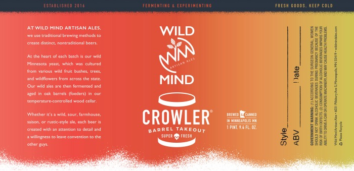 Wild Mind Crowler Label