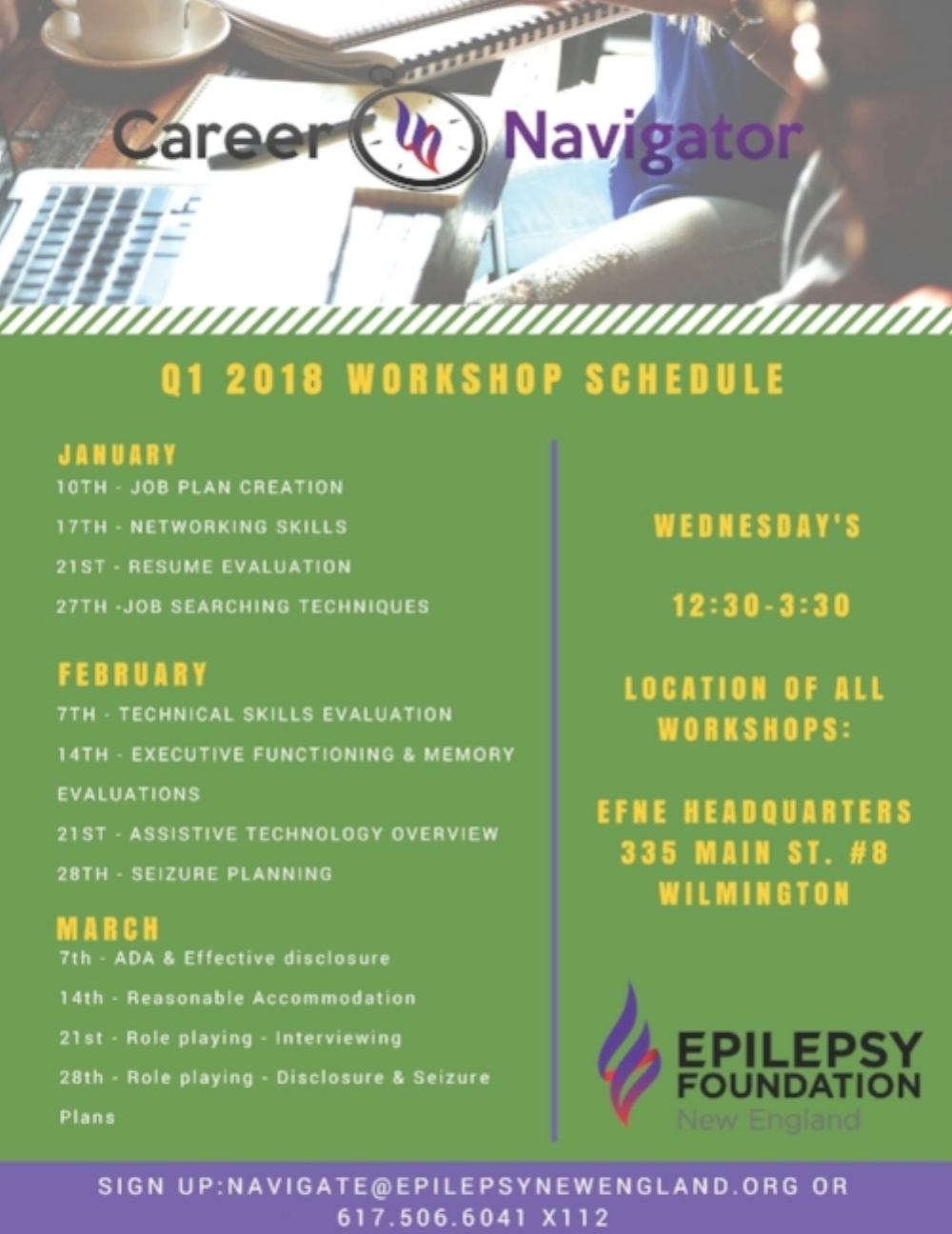 Poster - 2018 Career Navigator Workshop Schedule.jpg