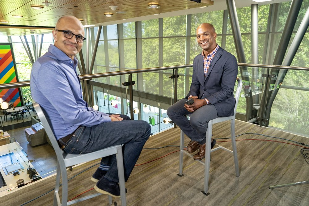 Satya Nadella is pushing Microsoft into a future he believes will be led by artificial intelligence platforms.