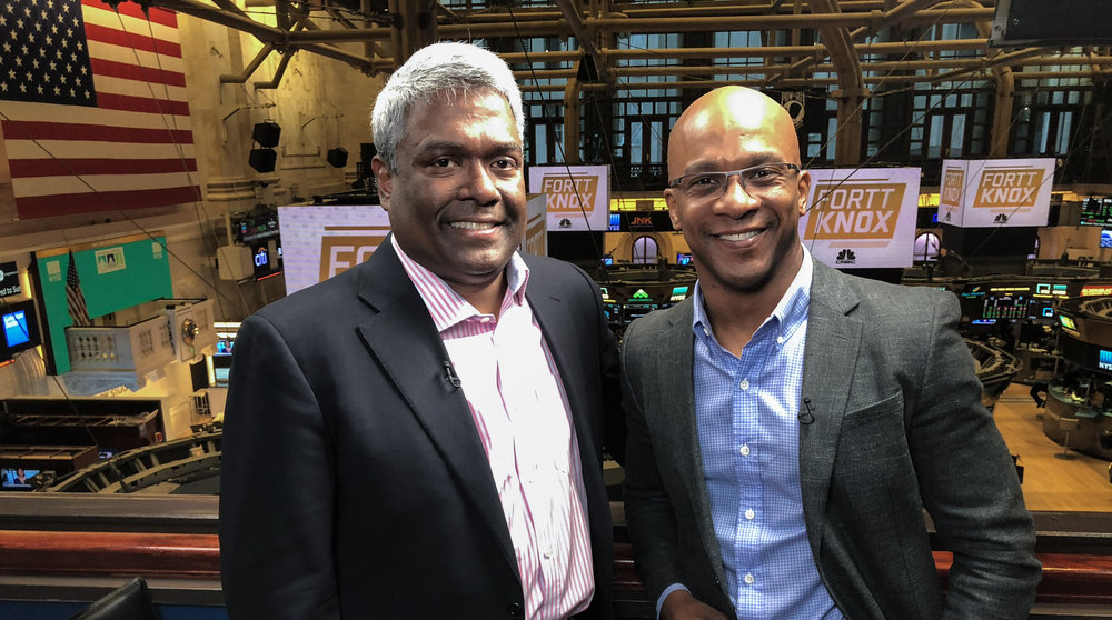George Kurian sat down with me at the New York Stock Exchange about three years into his tenure as NetApp CEO.