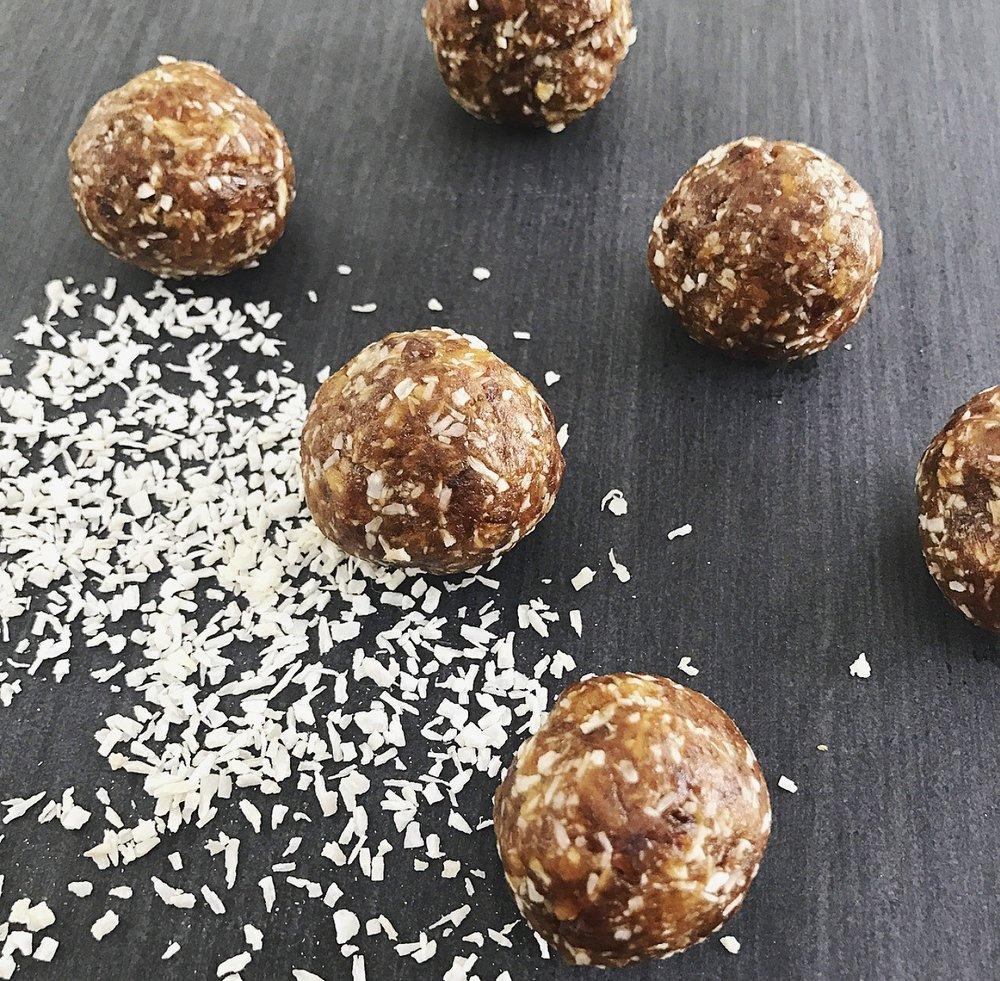 Tahini and Coconut Energy Balls
