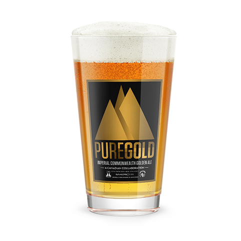 PURE GOLD - Imperial Golden Ale - This beer was produced in collaboration with our friends at Ridge Brewing, in Maple Ridge, BC.The style is an imperial commonwealth golden ale. It is Amber and Caramel in color, malt forward followed by mild hop flavors in the mid mouth, complex malt finish with long yet crisp clean back palate. We used malt from Canada, and hops from Australia to create this take on a classics British style. This extra strong beer, was rated at 8.6% ABV and 33 IBU. It was available, in limited release, in 650ml bomber bottles.