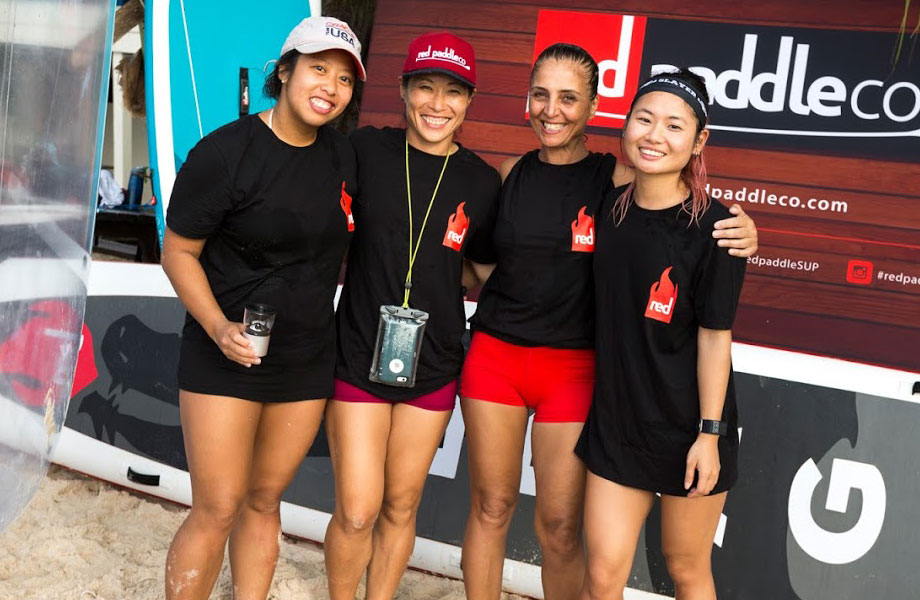 """I cannot even describe the fun I had. I am in total withdrawal, daydreaming at the office about the blue water, the excitement, and the bonding with Red Paddle fans from all over the world""  Noriko, Team Red Ladies, NYC."